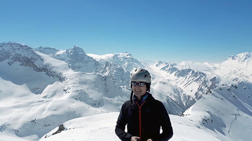 Ricardo Forcano en el Binntal (Alpes suizos).