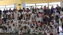 Judolandia contó con unos 250 participantes, entre chicos y grandes.