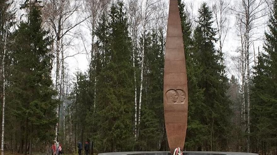 Memorial a Gagarin en Novoselovo (Rusia)