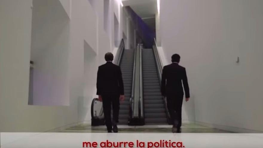 Imagen del vídeo de Feijóo con el actor Luis Zahera