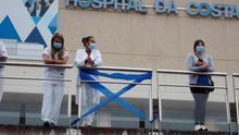 Personal sanitario en un hospital gallego