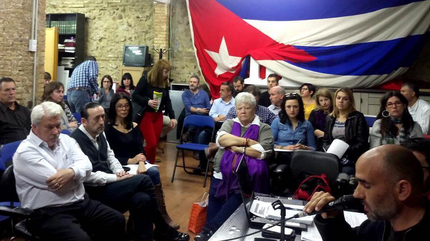 David Rodríguez preside la reunión del Consell Polític de Esquerra Unida