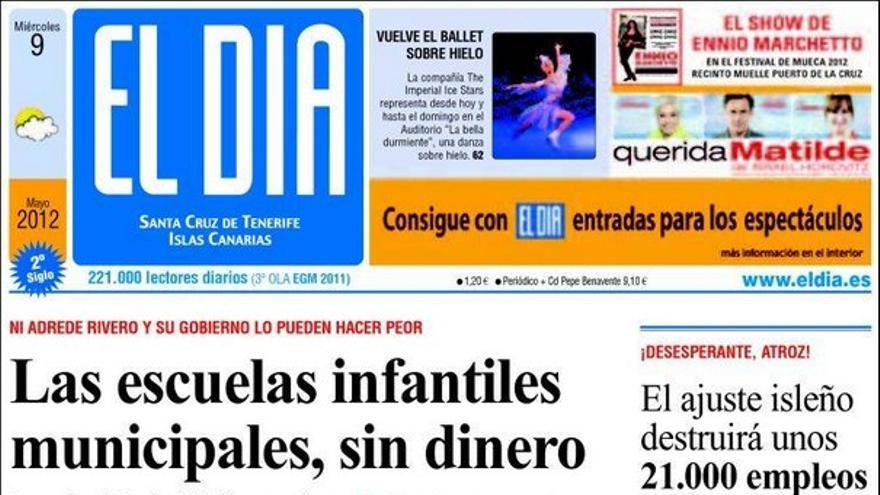De las portadas del día (09/05/2012) #4
