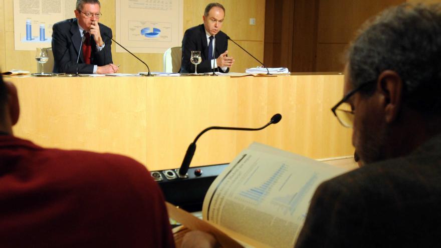 Ruiz-Gallardón y Juan Bravo, en una imagen de archivo.