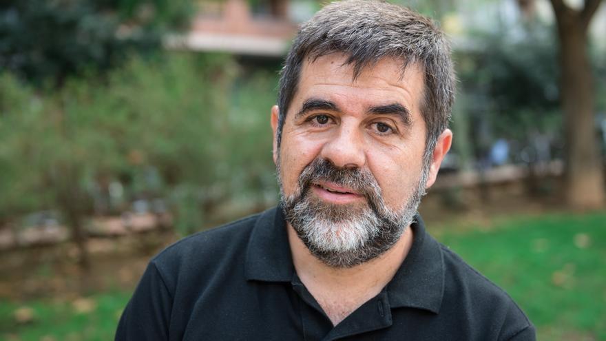 Jordi Sànchez als Jardins de la Indústria de Barcelona, prop de la seu de l'ANC / SANDRA LÁZARO