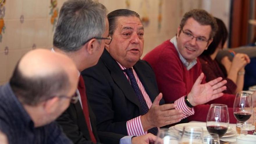 Vicente Boluda, durante el acto de empresarios