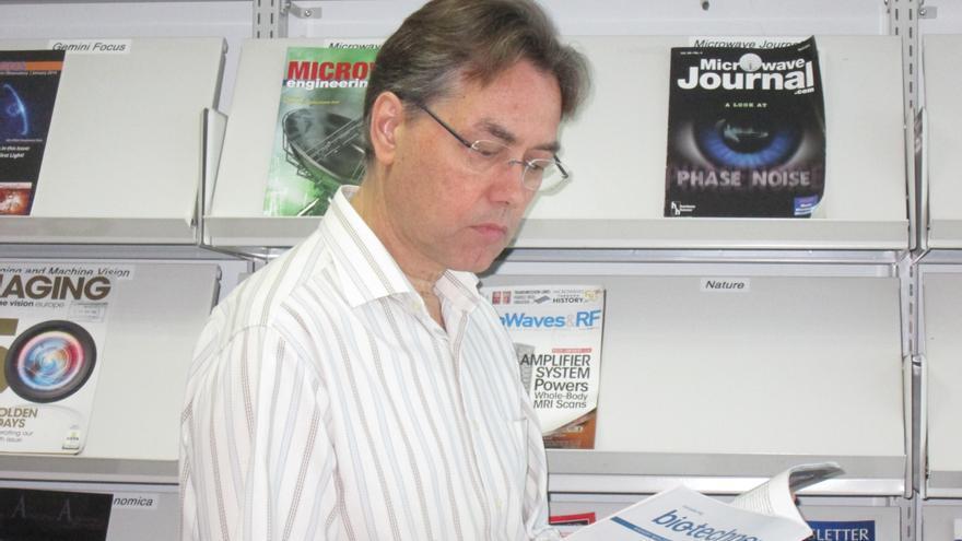 Marc Balcells se queja de la poca inversión en ciencia del Estado. Foto: LUZ RODRÍGUEZ.