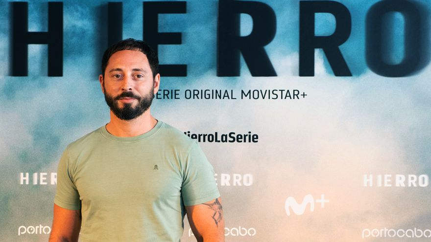 Matías Varela en la presentación de 'Hierro'