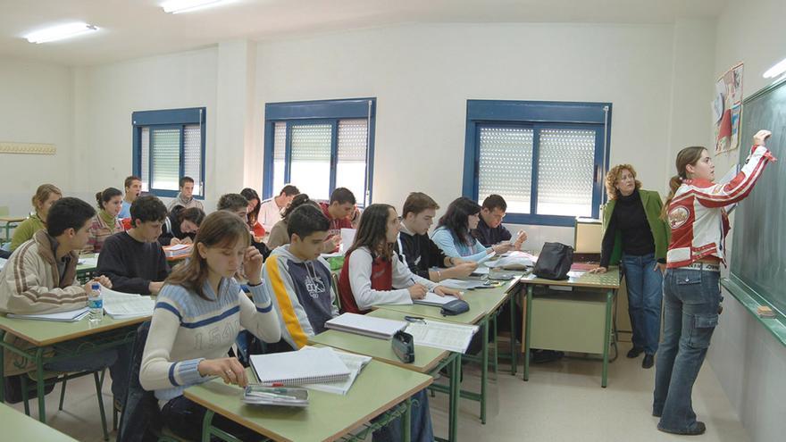 Alumnado de un centro educativo gallego