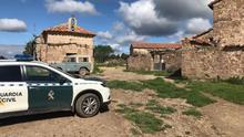 Una patrulla de la Guardia Civil de Teruel en las Masías Casas Nuevas, durante el Plan Mayor de Seguridad