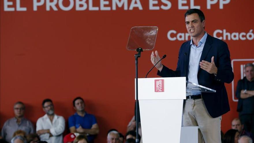 Sánchez: Con Rajoy me separan muchas cosas pero no frente al secesionismo
