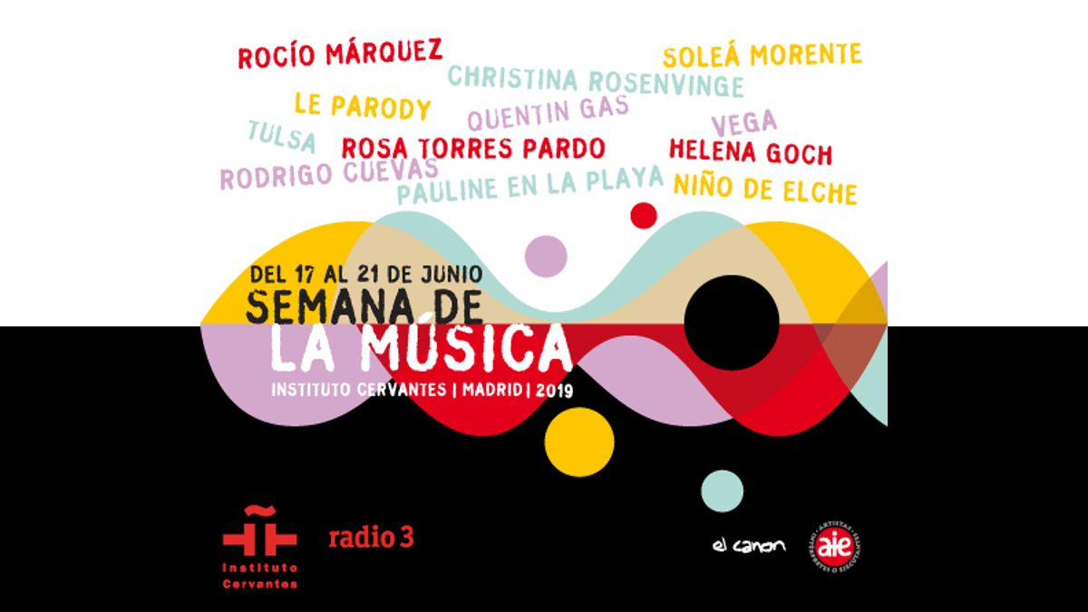 Cartel de la Semana de la Música del Instituto Cervantes 2019 | © DAVID CARBALLAL