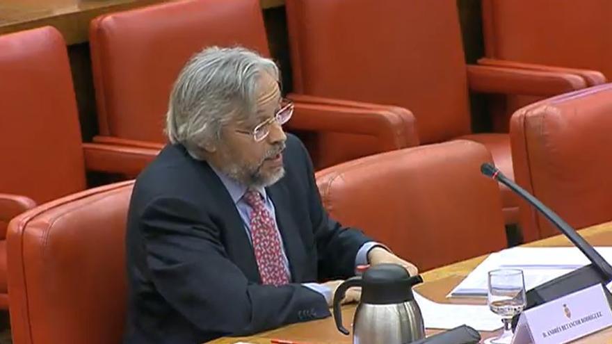 Andrés Betancor, en el Congreso.