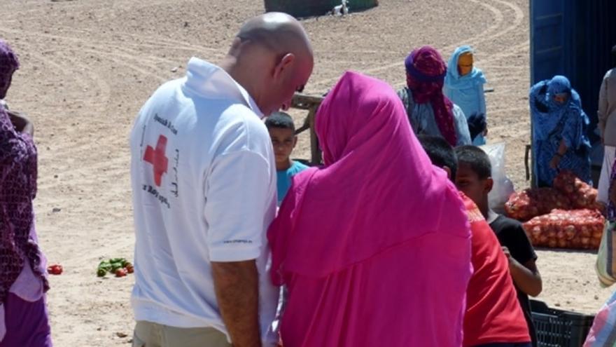 Intervención de Cruz Roja con personas refugiadas