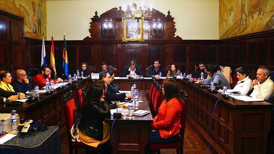 Pleno del Ayuntamiento de Los Llanos de Aridane celebrado este martes.