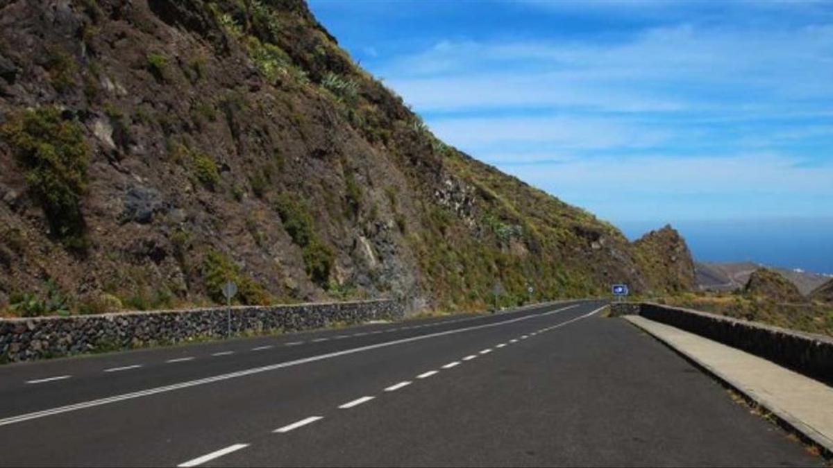 Tramo de carretera del norte de La Gomera