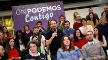 Pablo Iglesias durante la presentación de su candidatura para la III Asamblea de Podemos, el pasado domingo.