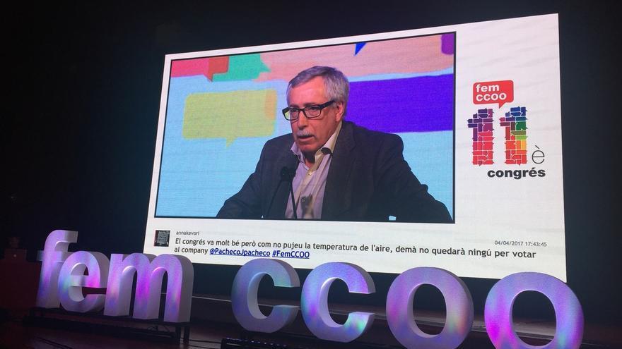 Ignacio Fernández Toxo durante unas jornadas de CCOO.