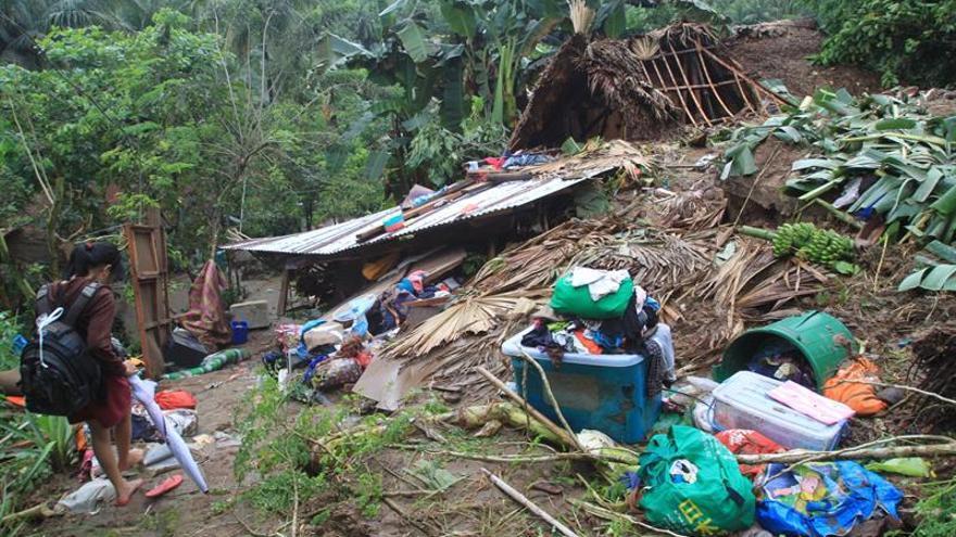 Al menos 22 muertos por una tormenta tropical en Filipinas
