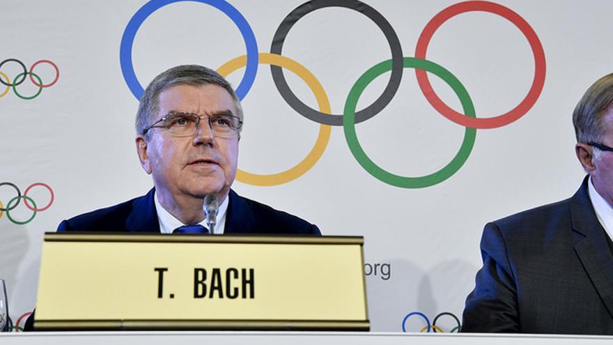 El presidente del Comité Olímpico Internacional, Thomas Bach