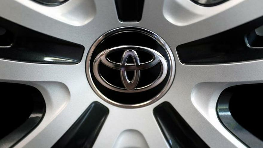 Vista del logo de Toyota Motor.