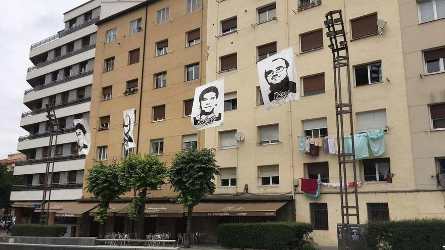 """Covite exige la retirada inmediata de un cartel en Vitoria """"en honor"""" al asesino de Fernando Buesa"""
