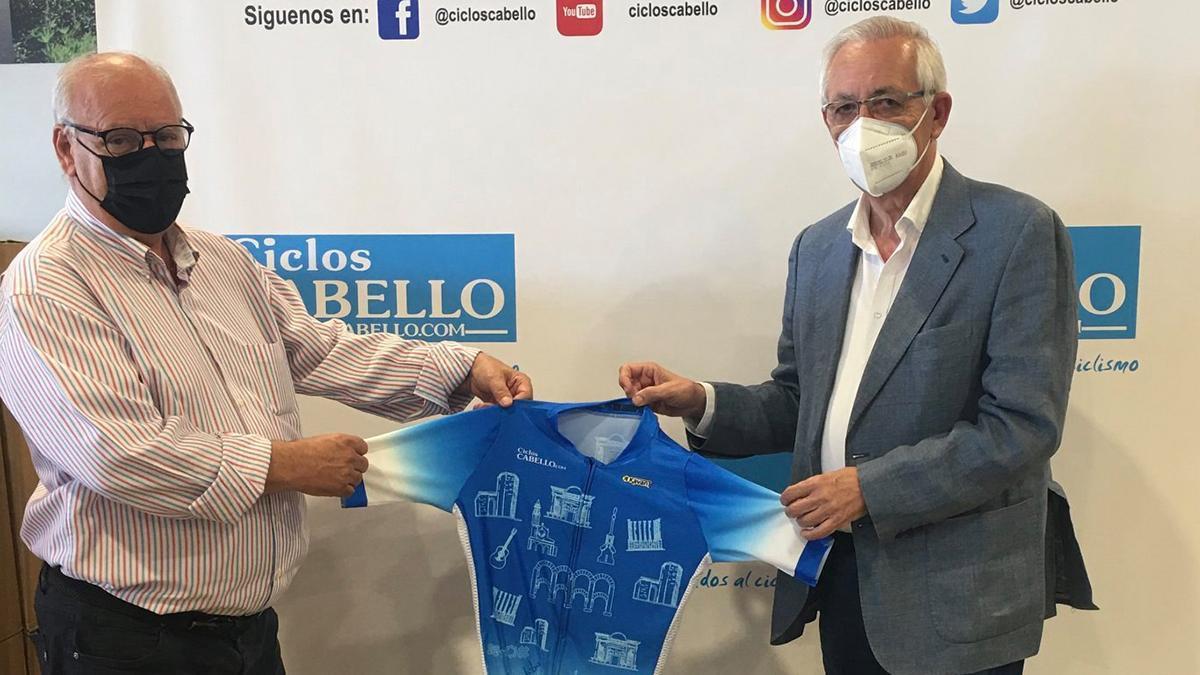 Presentación del maillot solidario de Ciclos Cabello