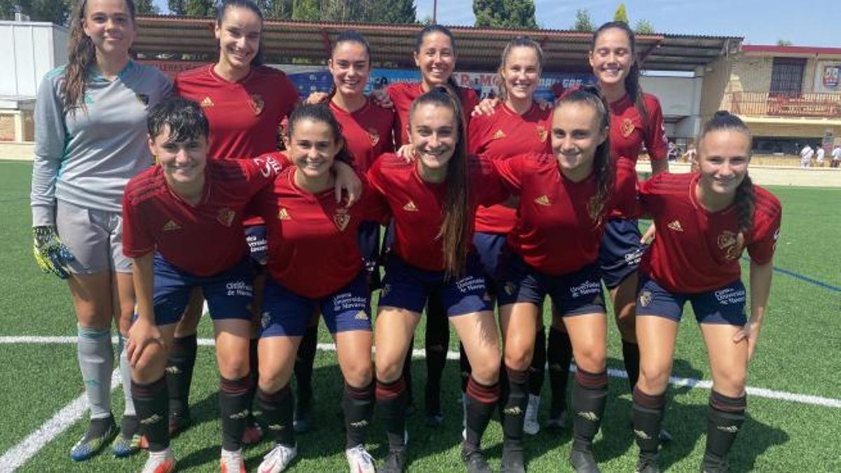 Las jugadoras del Osasuna Femenino B