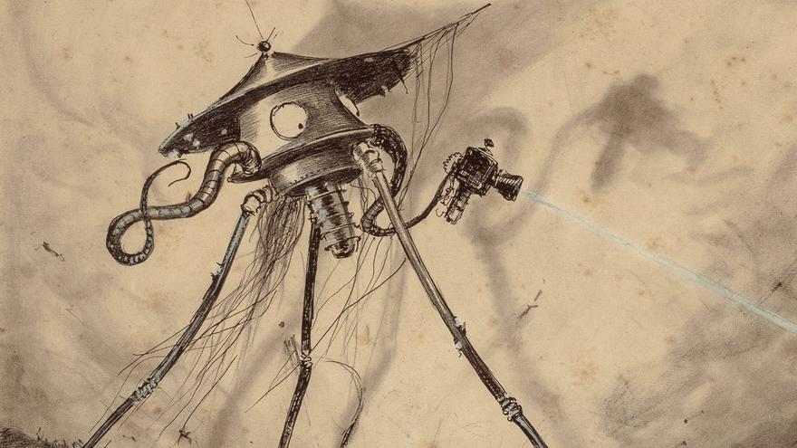 Ilustración de Alvim Corrêa de 'La guerra de los mundos'