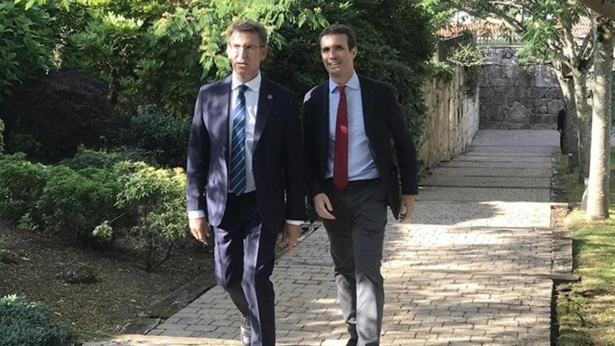 Casado y Feijóo participan este sábado en la romería que prepara el PP en O Pino (A Coruña)