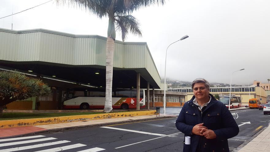 Noelia García Leal en la Estación de Guaguas.