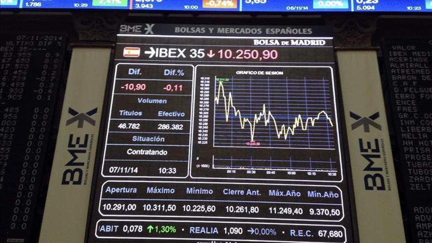 La bolsa española abre con leves pérdidas y el IBEX cede un 0,21 por ciento