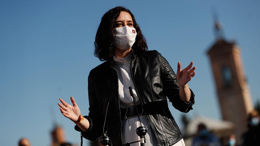 Isabel Díaz Ayuso durante su campaña electoral