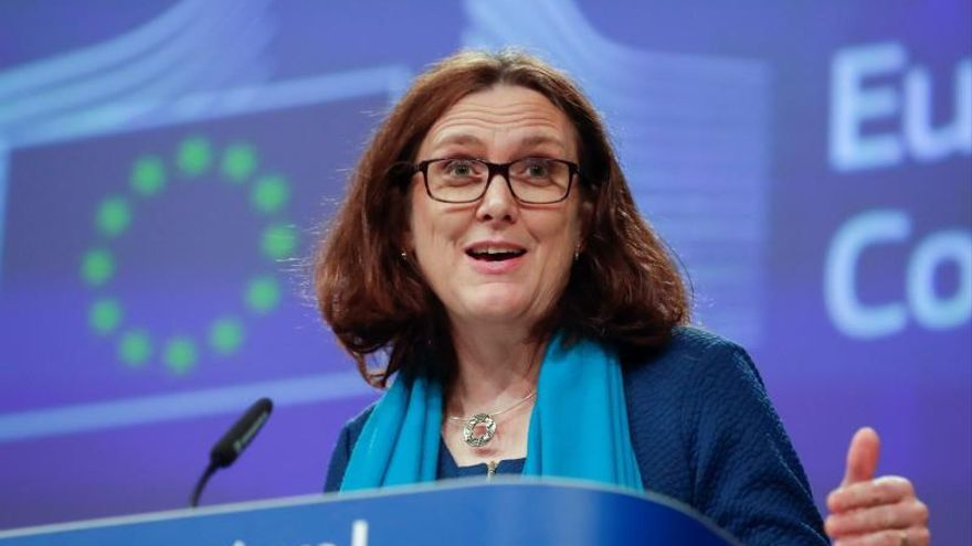 La comisaria europea de Comercio, Cecilia Malmstrom.