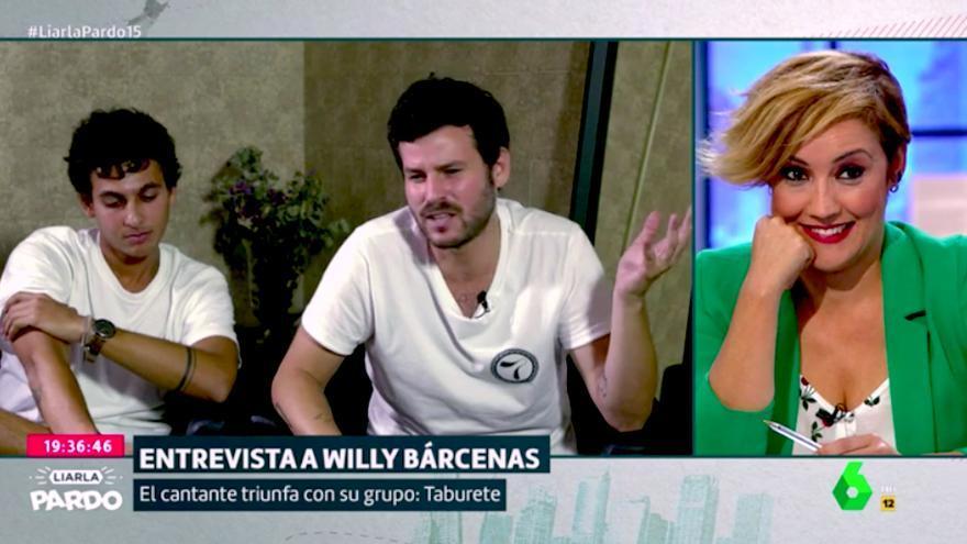 """Cristina Pardo despide la entrevista al líder de Taburete con un """"Willy, sé fuerte"""""""