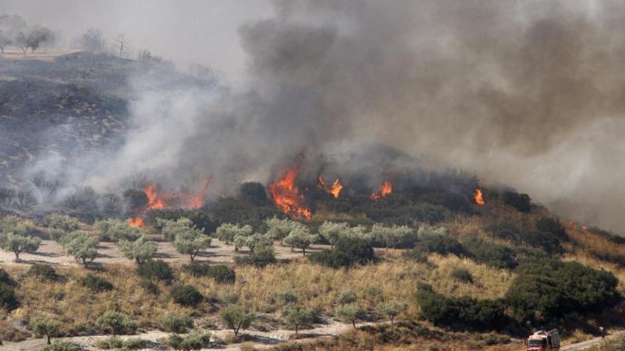 Tres detenidos y decenas de evacuados por un incendio cerca de Los Ángeles