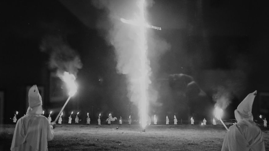 Reunión del Ku Klux Klan en EEUU.