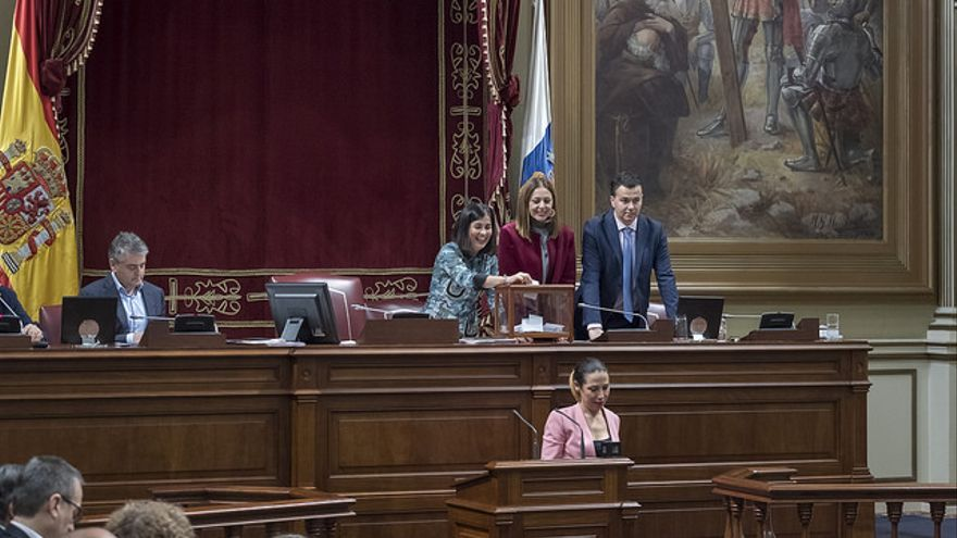 Votación en el Parlamento de Canarias a las candidatas al Consejo Rector de RTVC