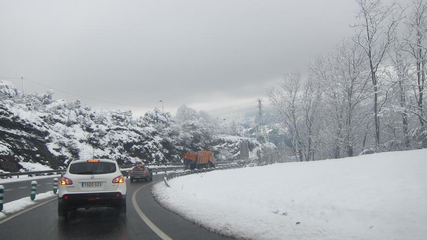 Activan la alerta amarilla por nieve en el interior de Euskadi desde las 21.00 horas de este lunes