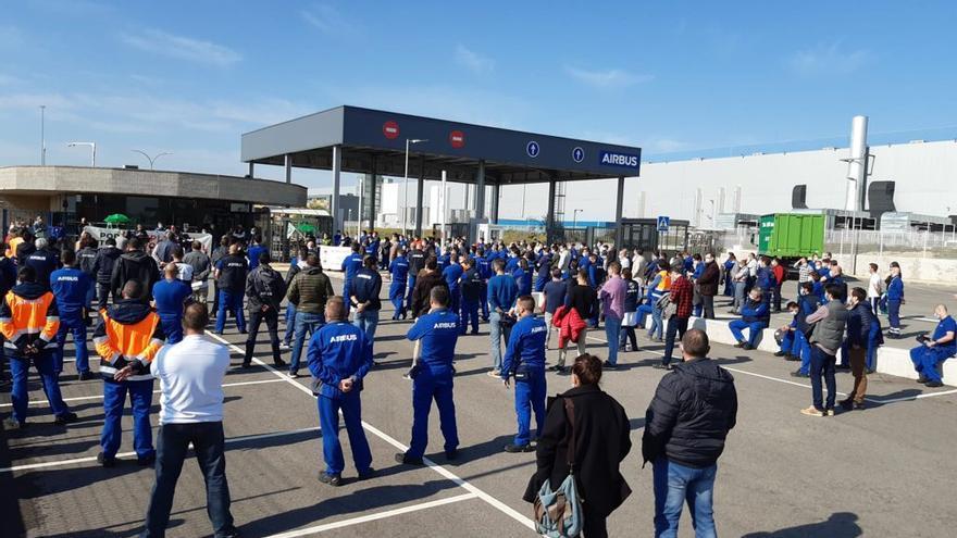 El personal de Airbus en Illescas se moviliza para seguir defendiendo el sector aeroespacial en España