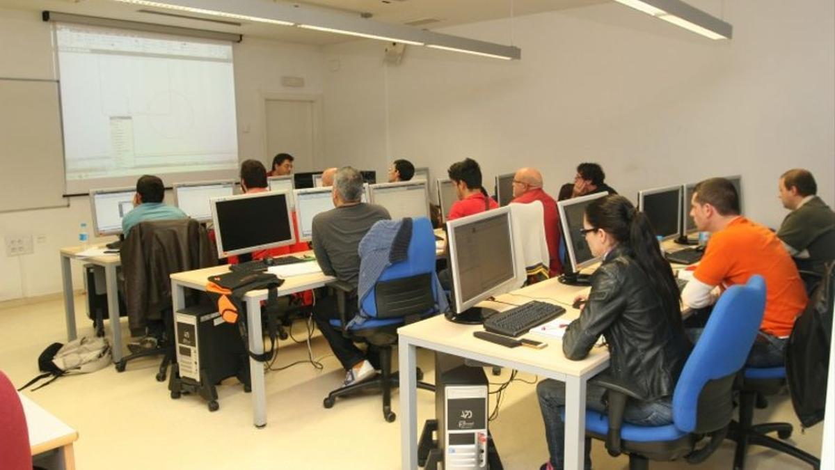 Alumnos en un curso de formación.