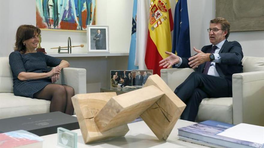 La presidenta de SEPI visita los astilleros de Navantia en la Ría de Ferrol