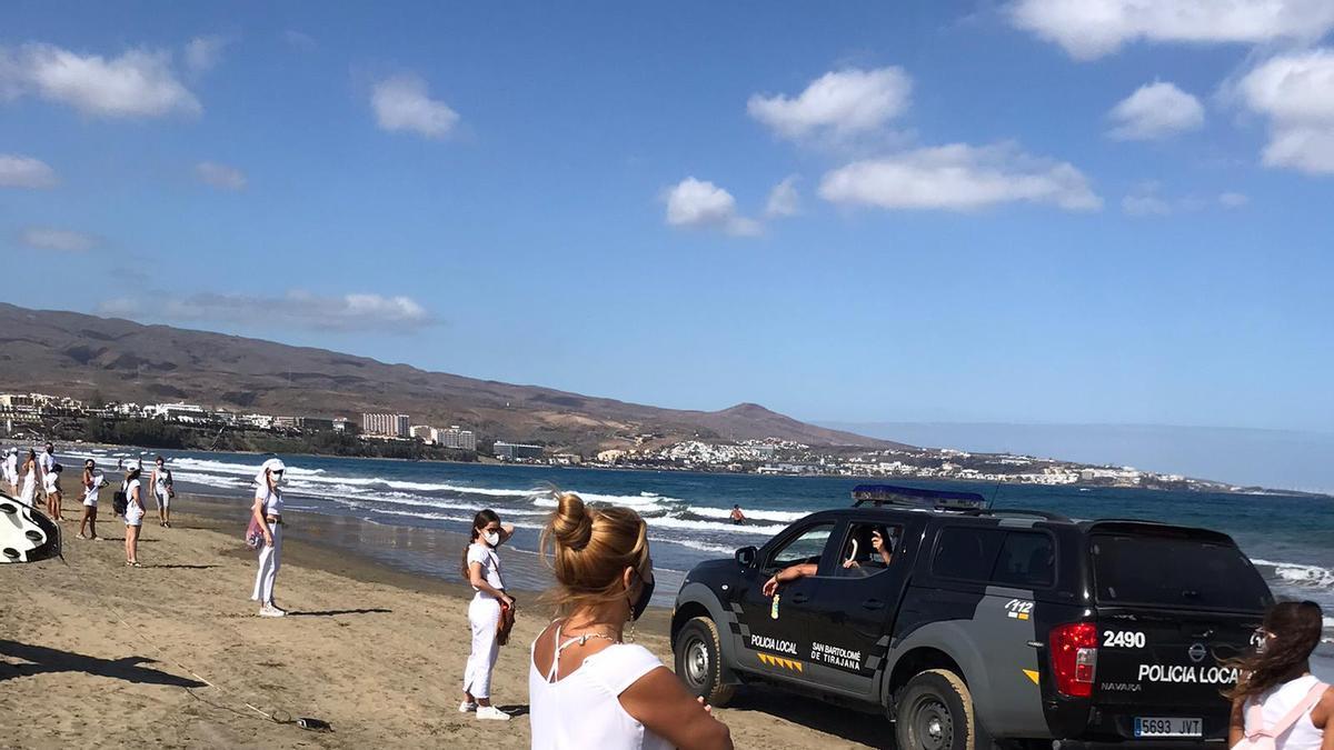 Cadena humana este sábado en Playa del Inglés
