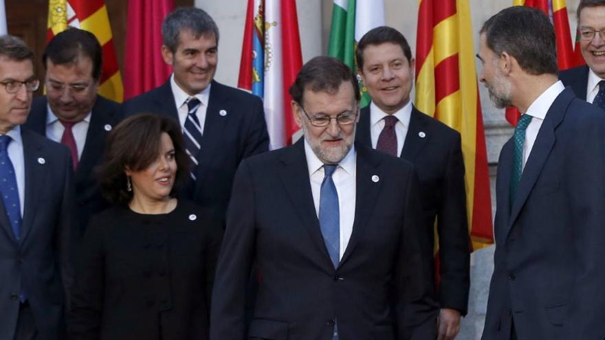 Rajoy, durante la IV Conferencia de presidentes autonómicos (EFE)