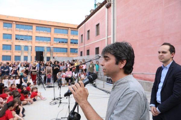 Jorge García Castaño en la inauguración de los Jardines del Arquitecto Ribera | Fotografía: Ayuntamiento de Madrid