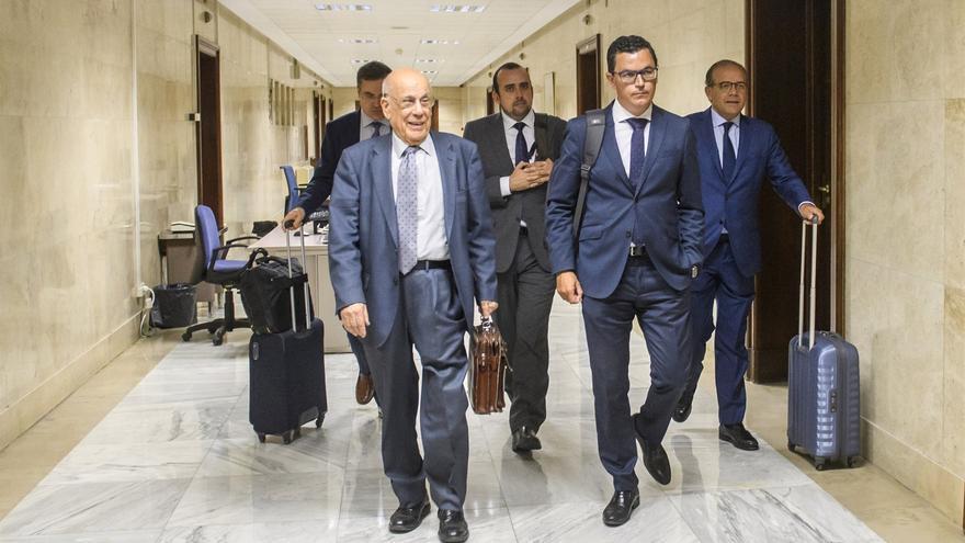 Pablo Rodríguez, en la parte de cabeza por la derecha, en Madrid
