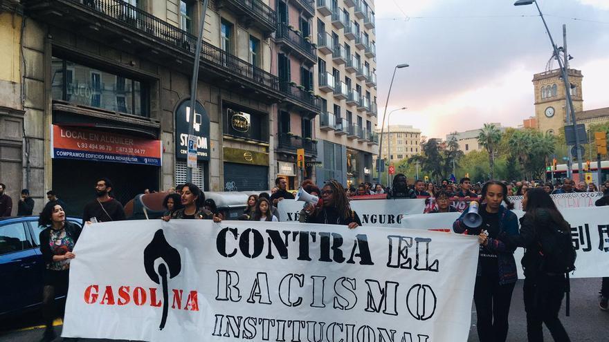 Manifestación antirracista en Barcelona