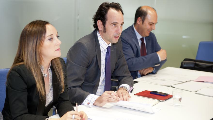 El viceconsejero de Industria, Juan Ignacio García de Motiloa, el día de la constitución del Consorcio.