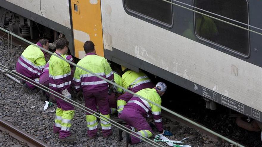 Restablecida la circulación en la línea donde descarriló el tren en O Porriño