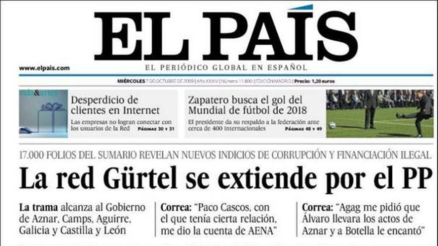 El 'caso Gürtel' invade las portadas de los principales periódicos nacionales #3